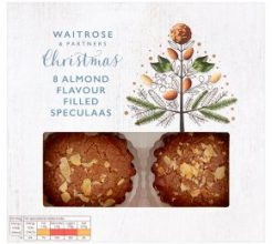 Waitrose Christmas 8 Almond Flavour Filled Speculaas image