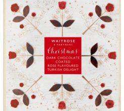Waitrose Christmas Dark Chocolate Rose Turkish Delight image