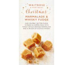 Waitrose Christmas Marmalade & Whisky Fudge image