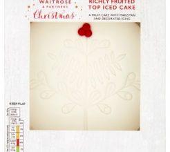 Waitrose Christmas Top Iced Fruit Cake image