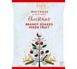 Waitrose Christmas brandy soaked mixed fruit image