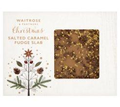 Waitrose Christmas Salted Caramel Fudge Slab image