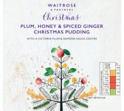Waitrose Plum, Honey & Ginger Christmas Pudding image